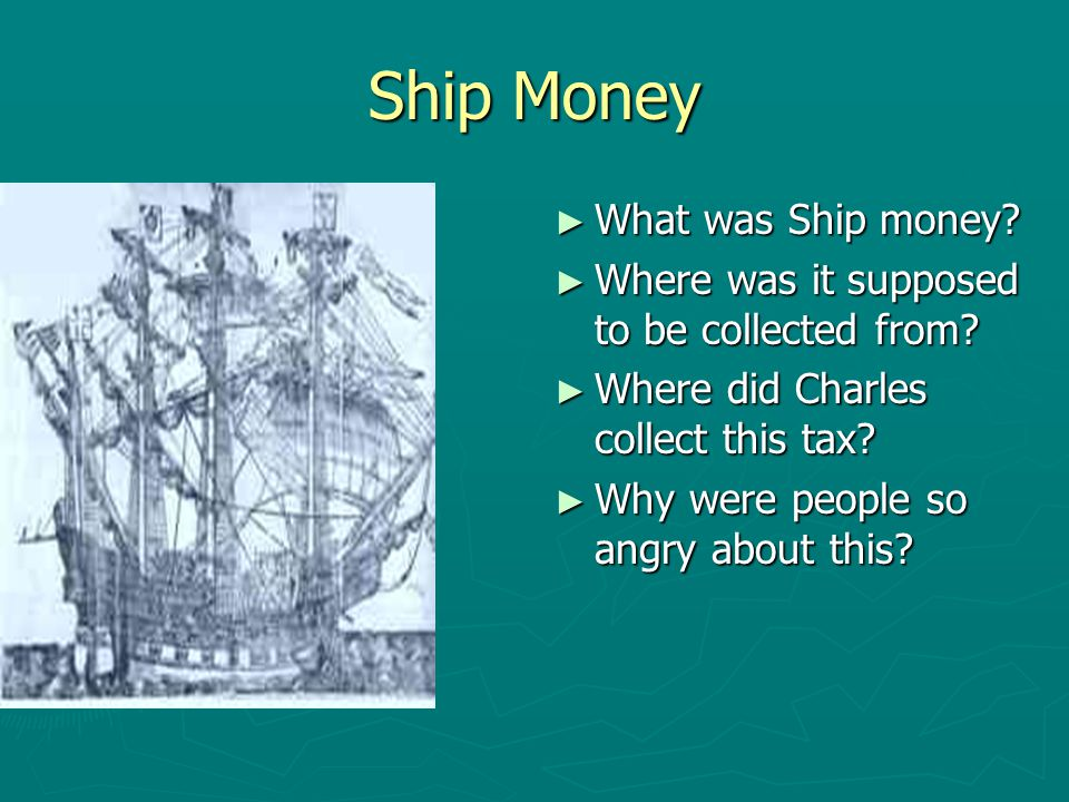 Ship Money What was Ship money