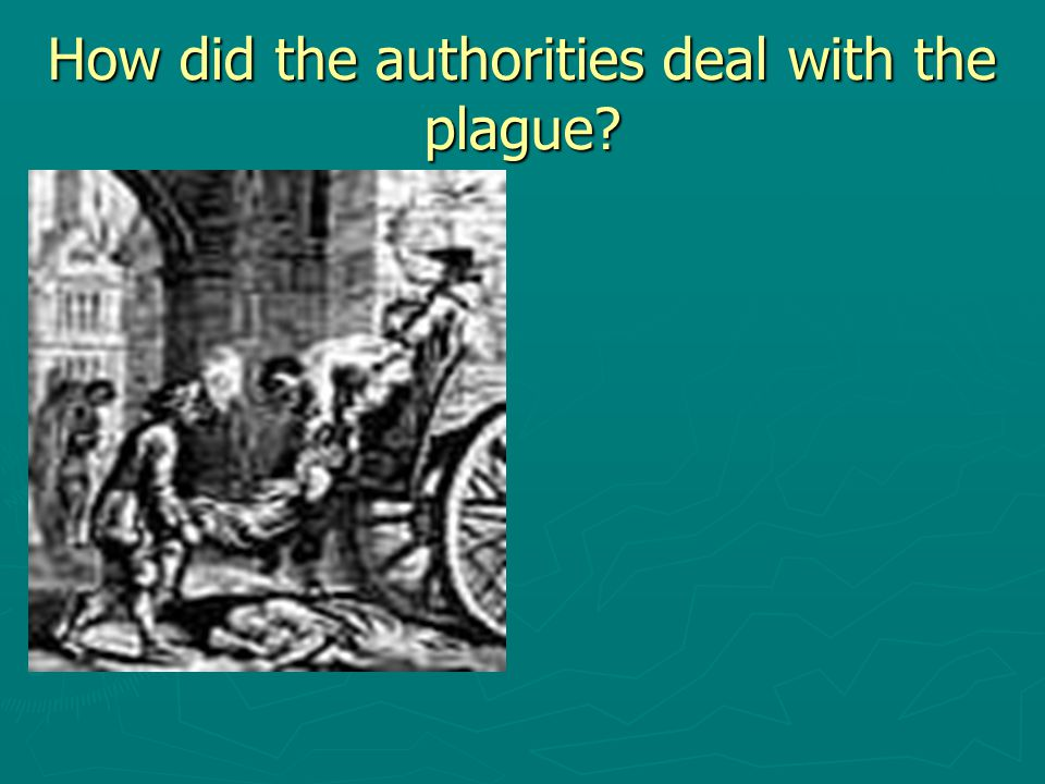 How did the authorities deal with the plague