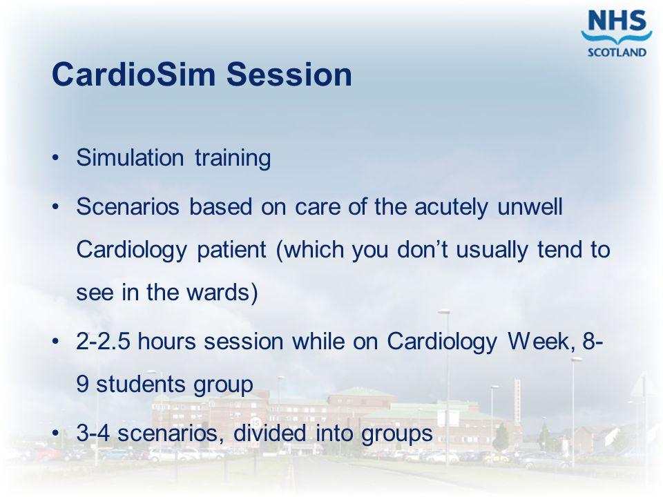 CardioSim Session Simulation training