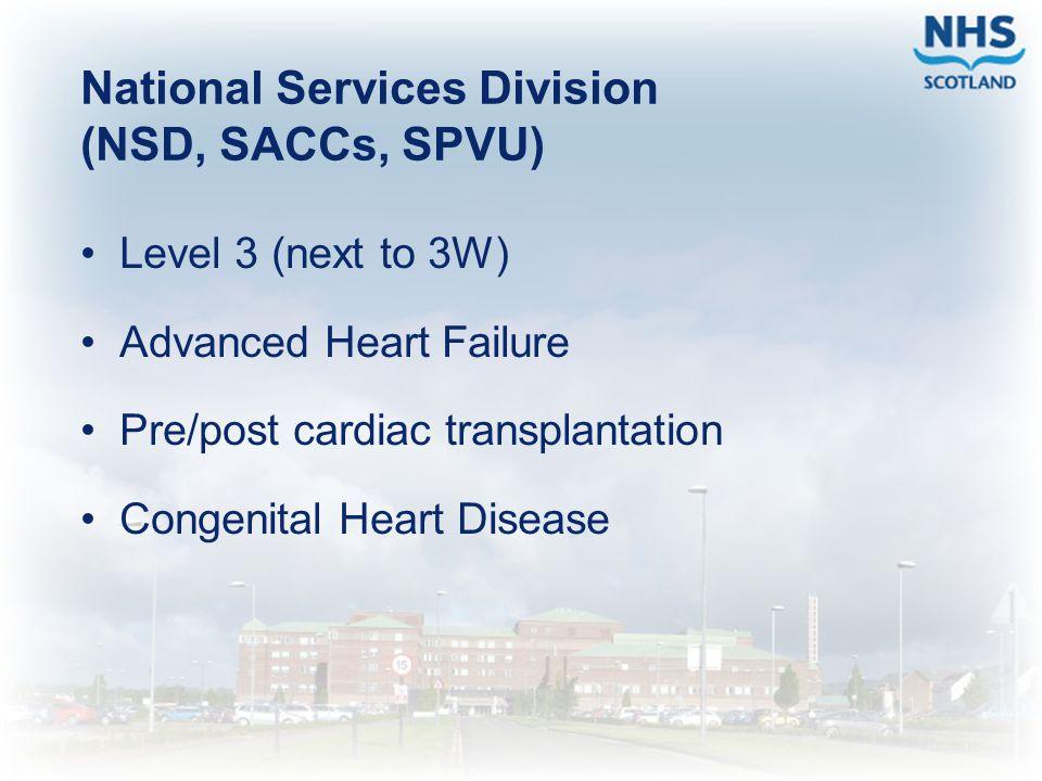 National Services Division (NSD, SACCs, SPVU)