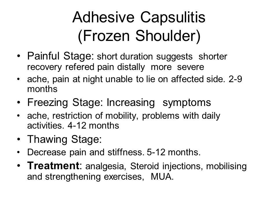 Adhesive Capsulitis (Frozen Shoulder)