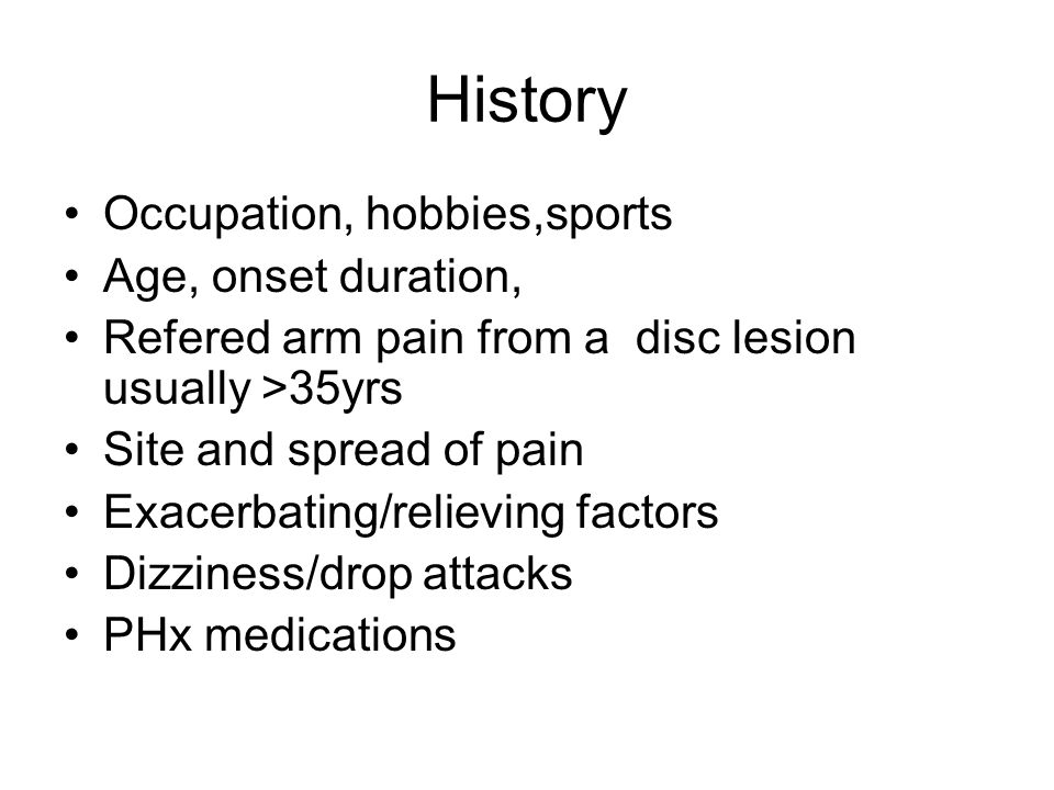 History Occupation, hobbies,sports Age, onset duration,