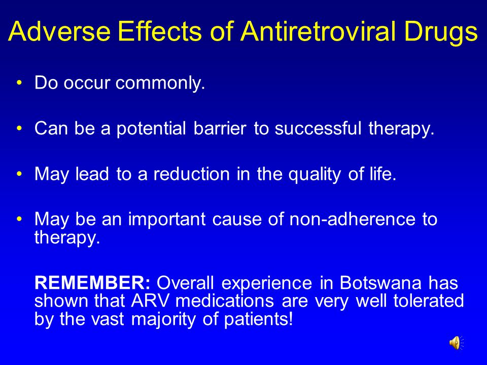 Adverse Effects of Antiretroviral Drugs