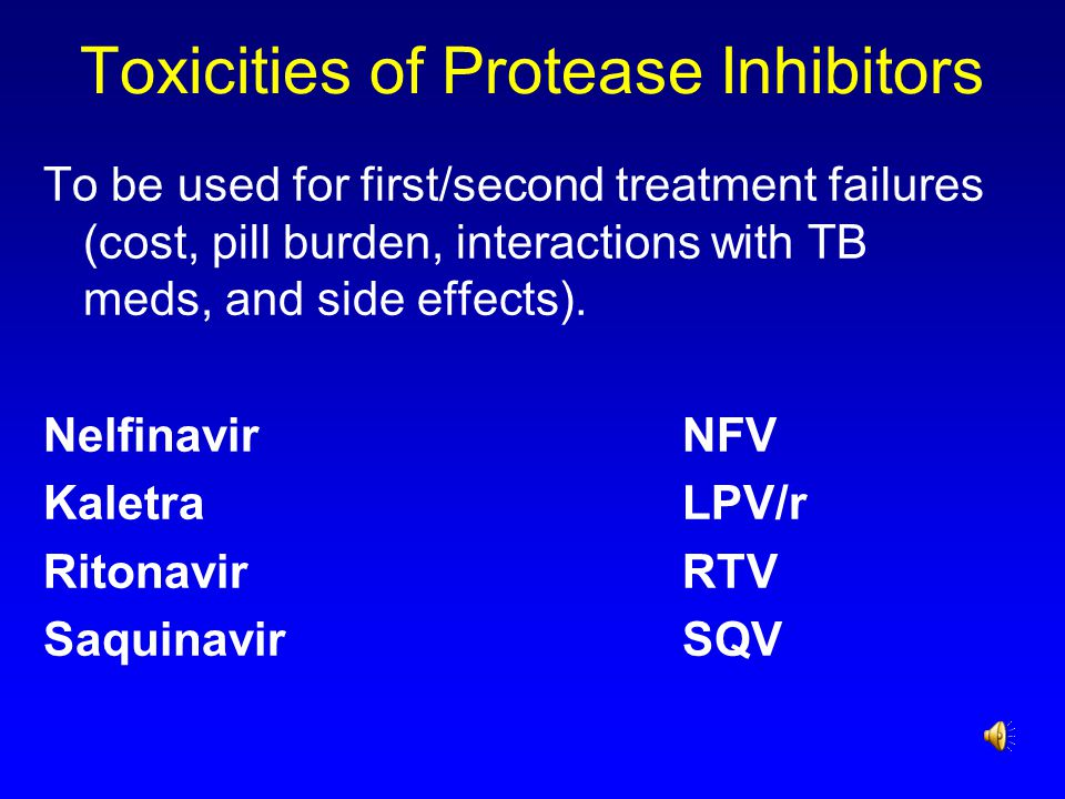 Toxicities of Protease Inhibitors