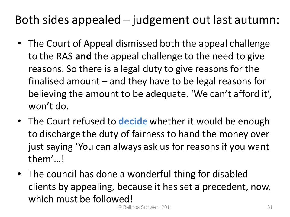 Both sides appealed – judgement out last autumn: