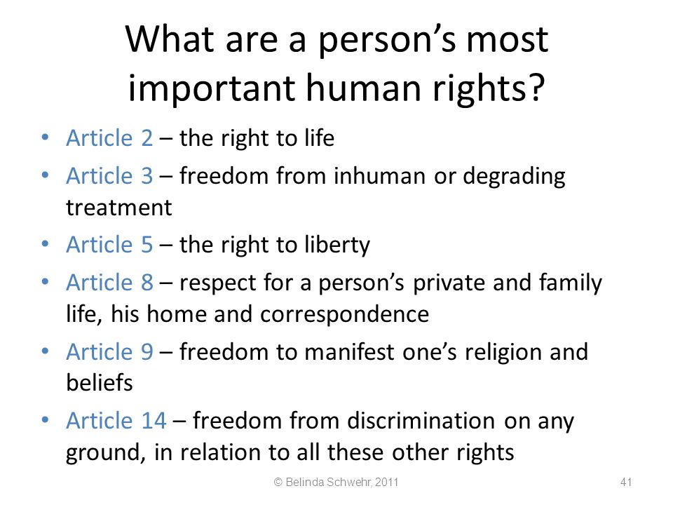 What are a person's most important human rights