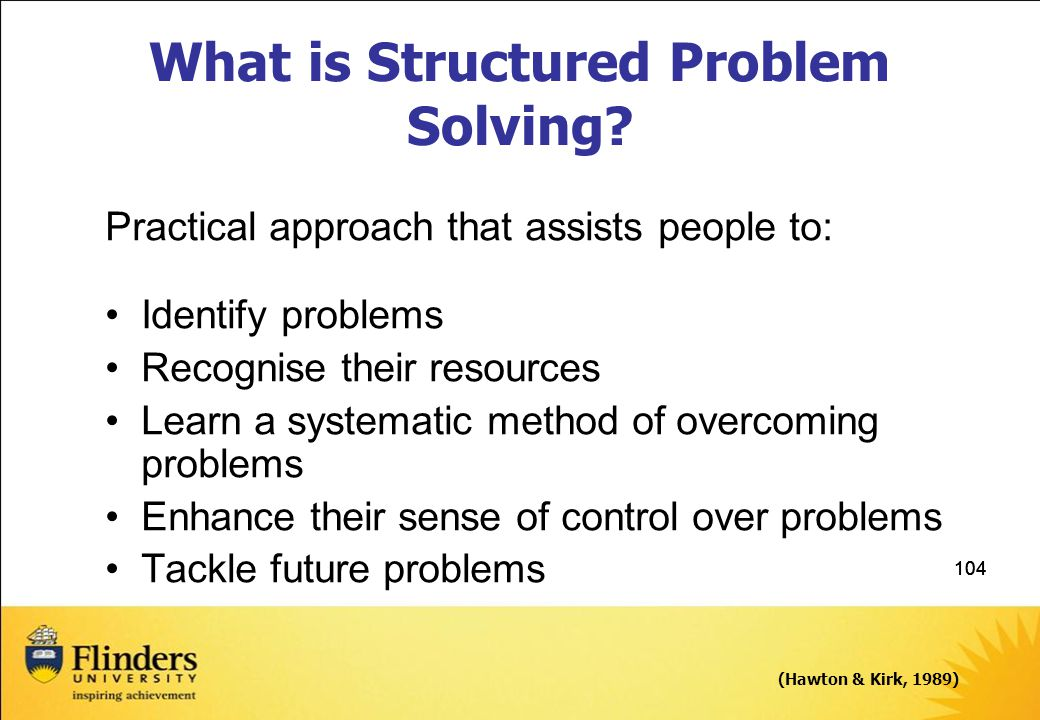 What is Structured Problem Solving