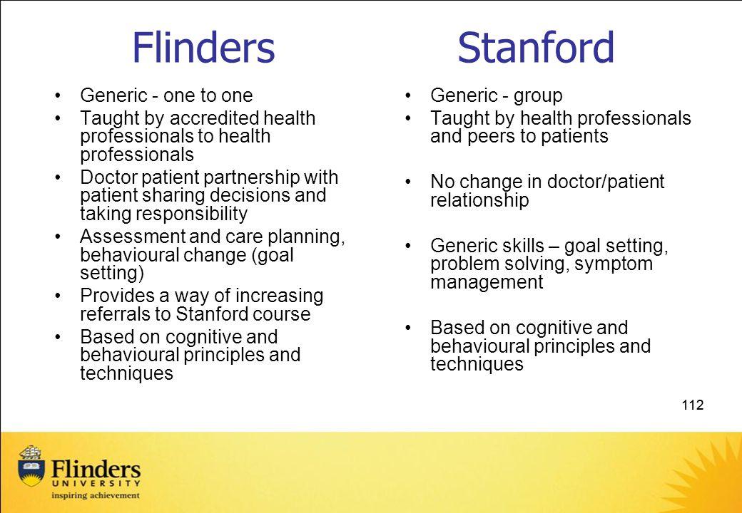 Flinders Stanford Generic - one to one
