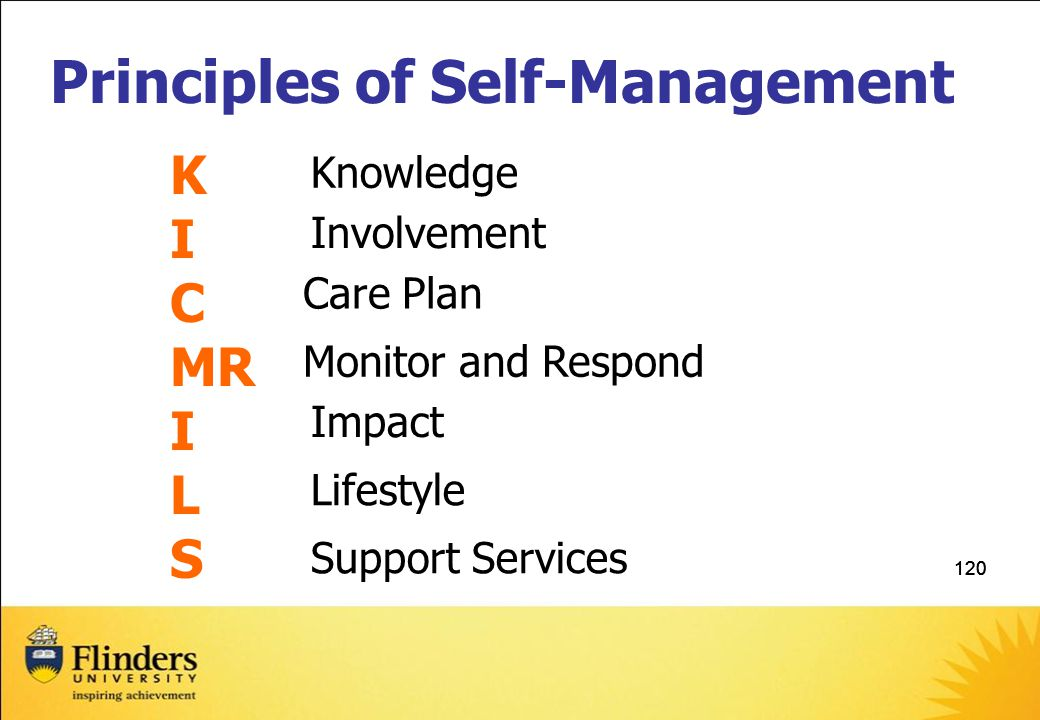 Principles of Self-Management