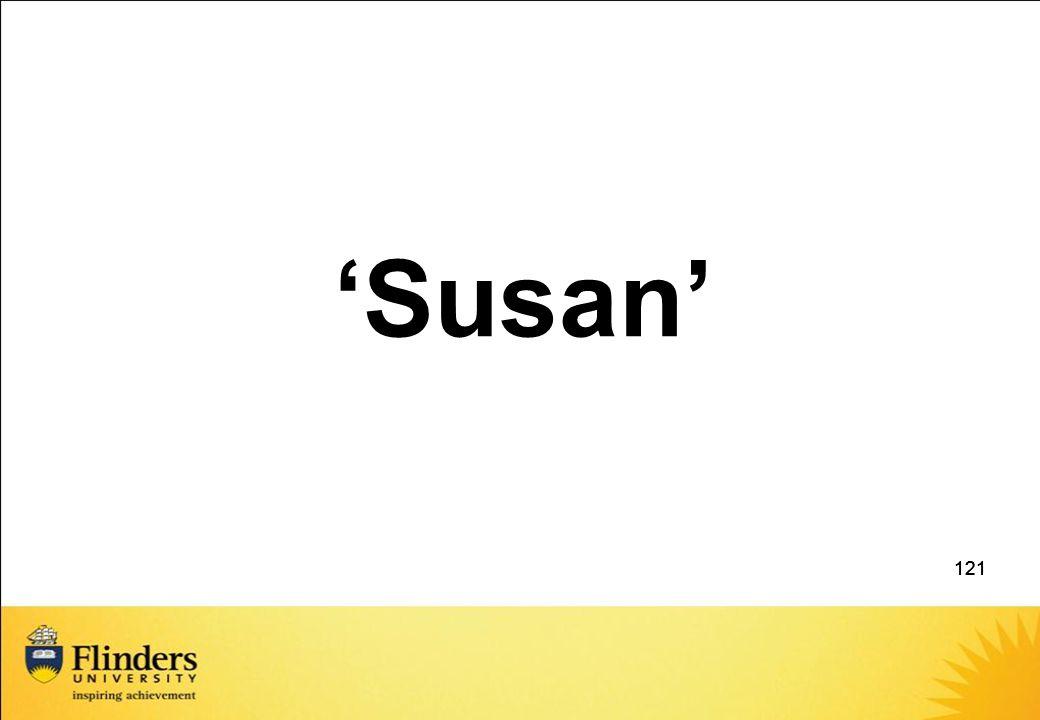 'Susan' 121 121