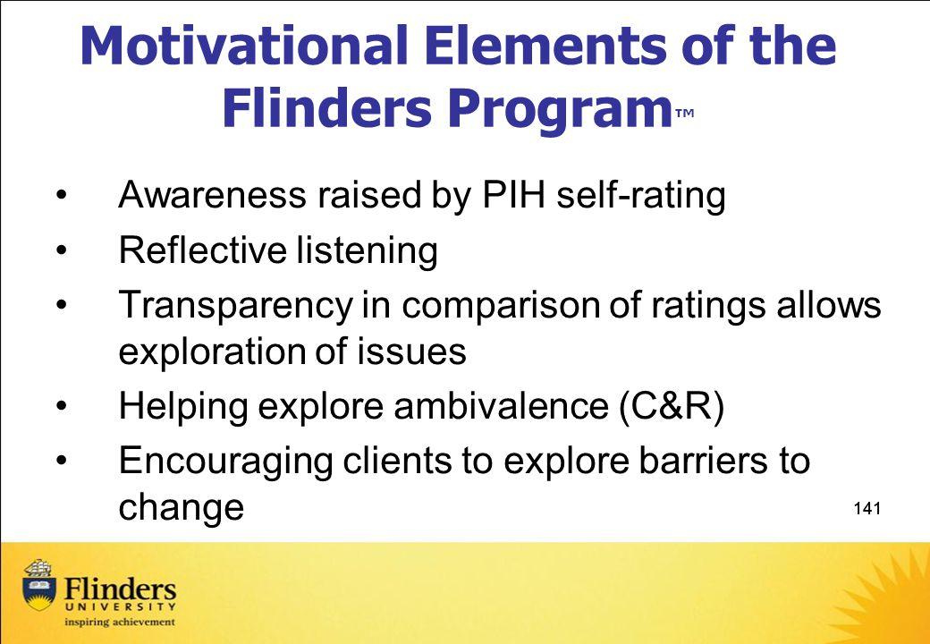 Motivational Elements of the Flinders Program™