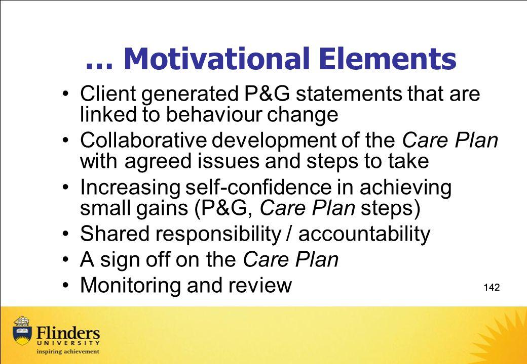 … Motivational Elements