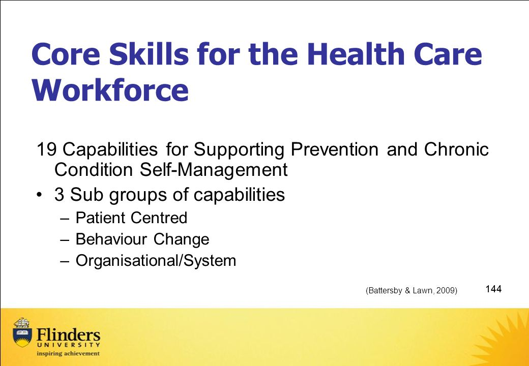 Core Skills for the Health Care Workforce