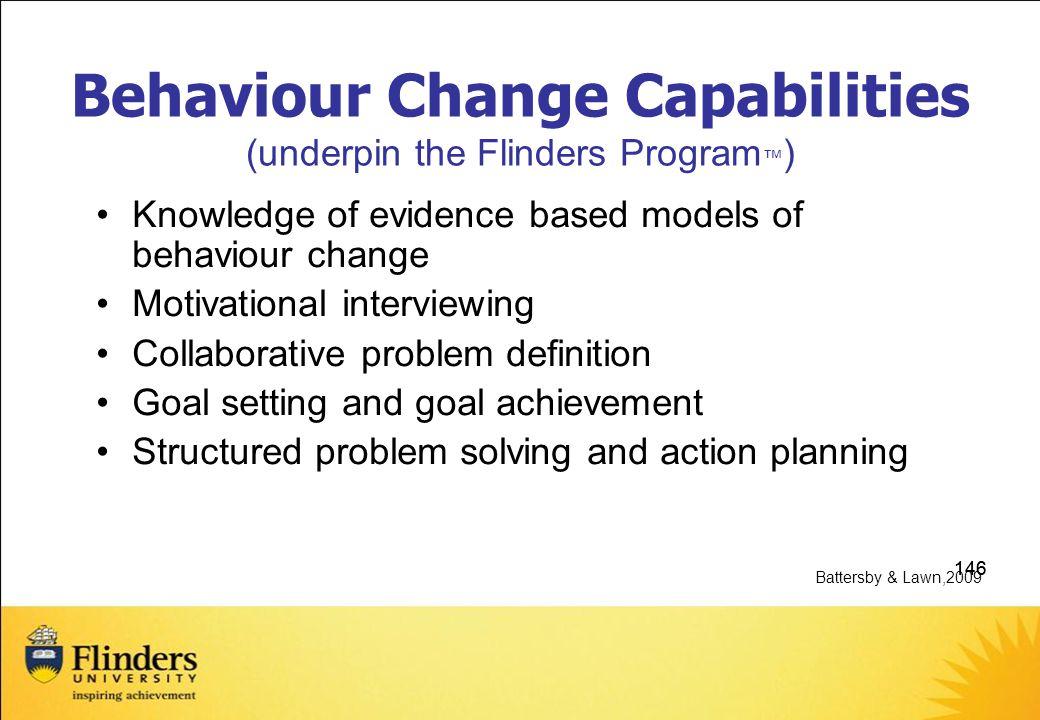 Behaviour Change Capabilities (underpin the Flinders Program™)