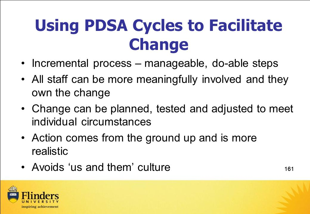 Using PDSA Cycles to Facilitate Change