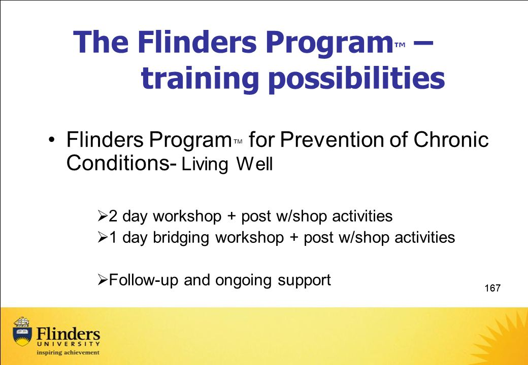 The Flinders Program™ – training possibilities