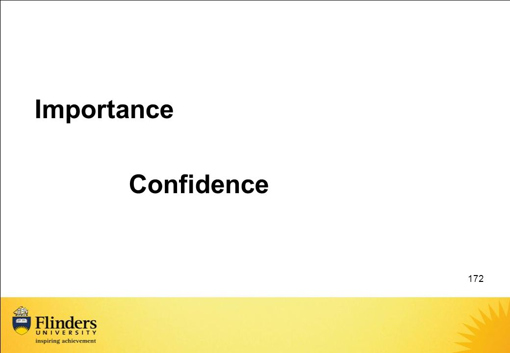 Importance Confidence