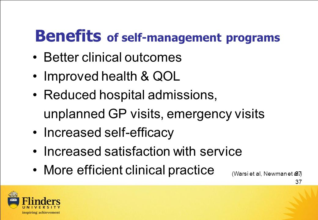 Benefits of self-management programs