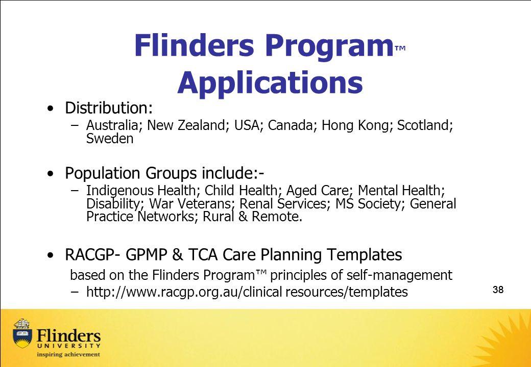 Flinders Program™ Applications