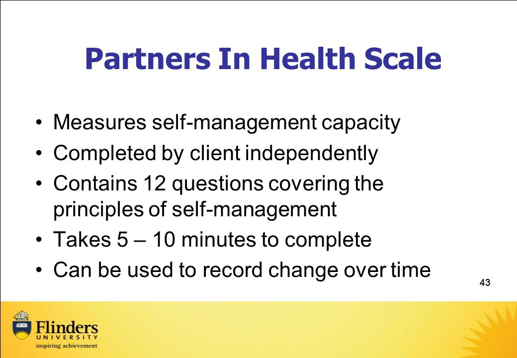 Partners In Health Scale