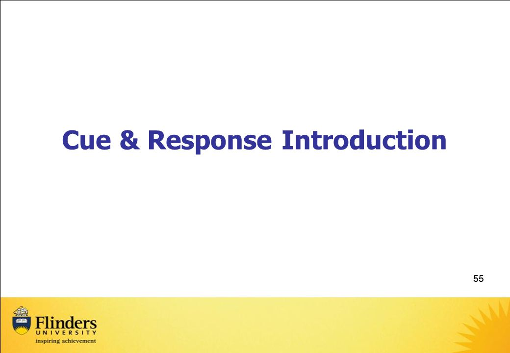 Cue & Response Introduction