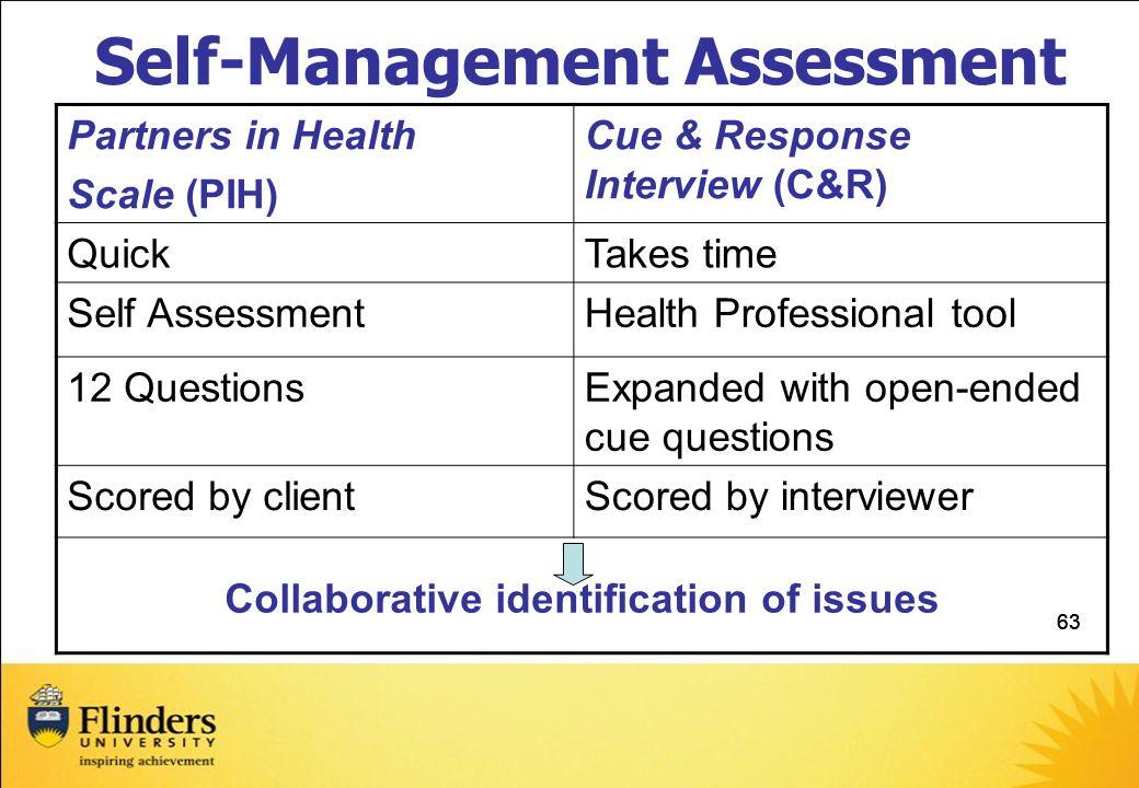 Self-Management Assessment