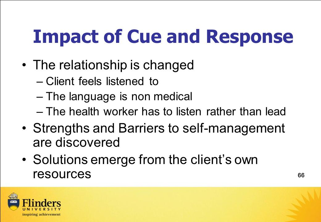 Impact of Cue and Response