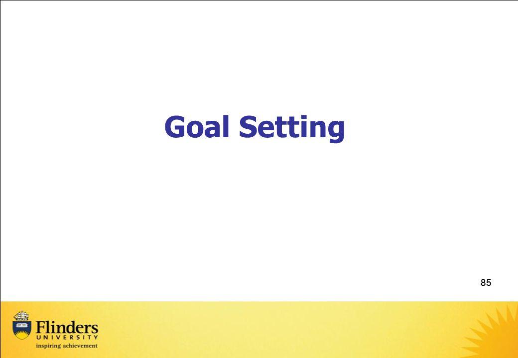 Goal Setting 85