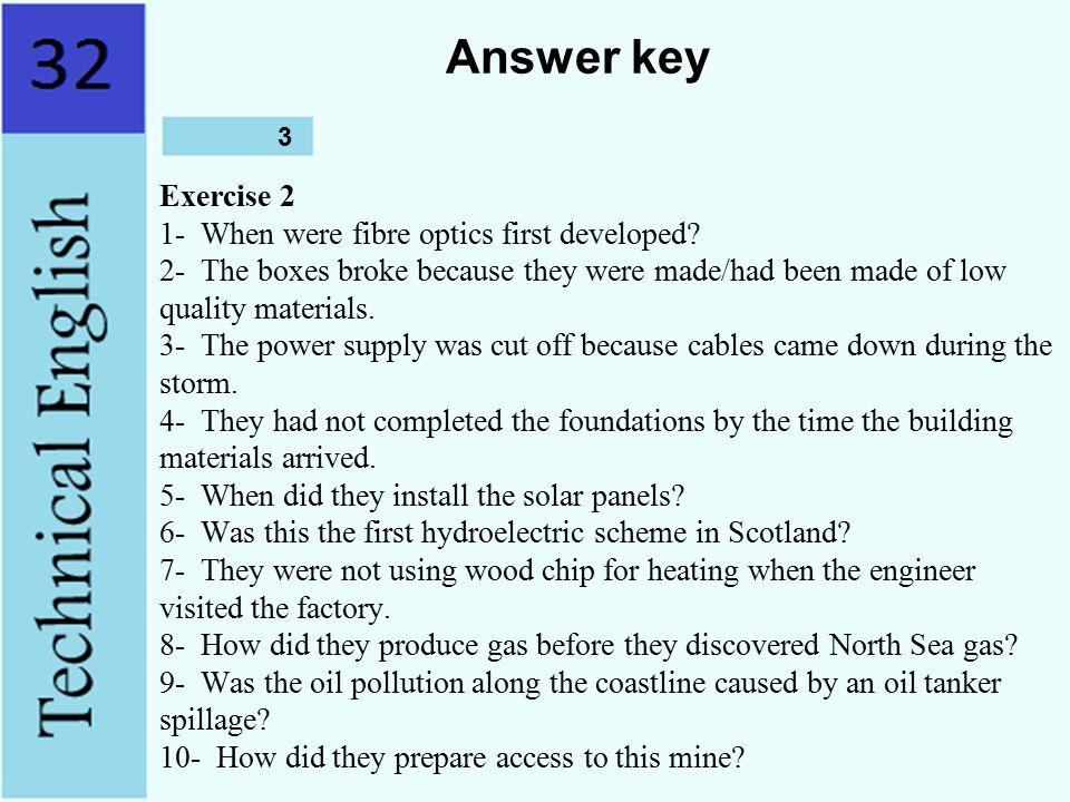 Answer key 3.