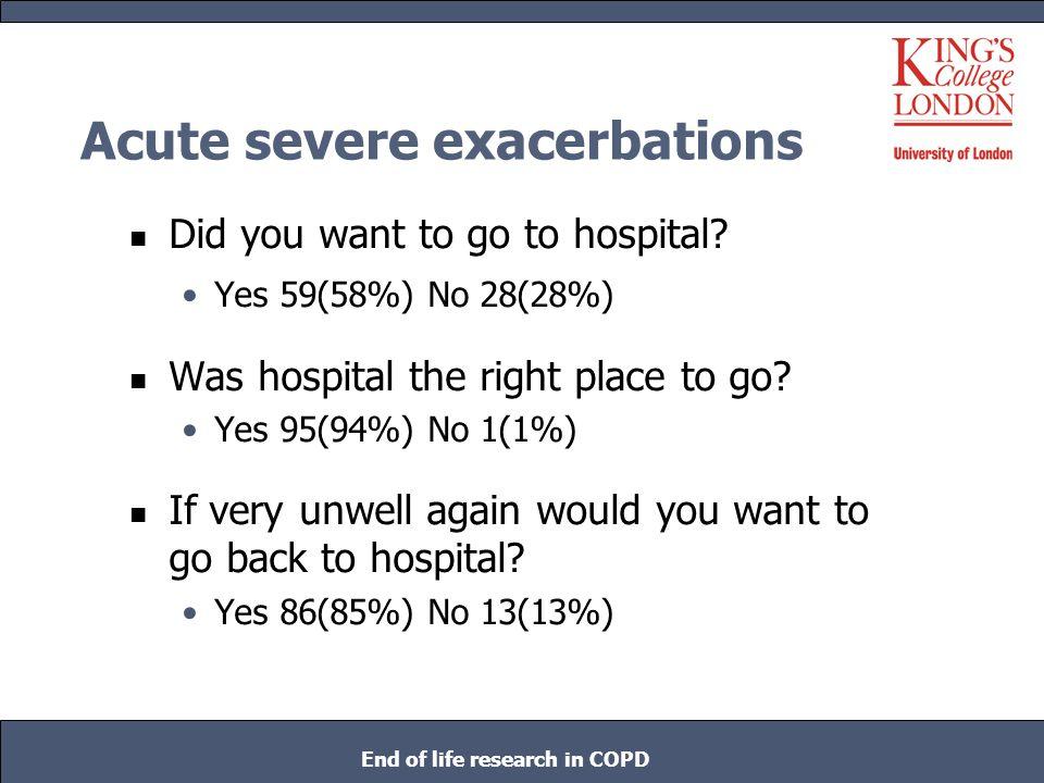 Acute severe exacerbations