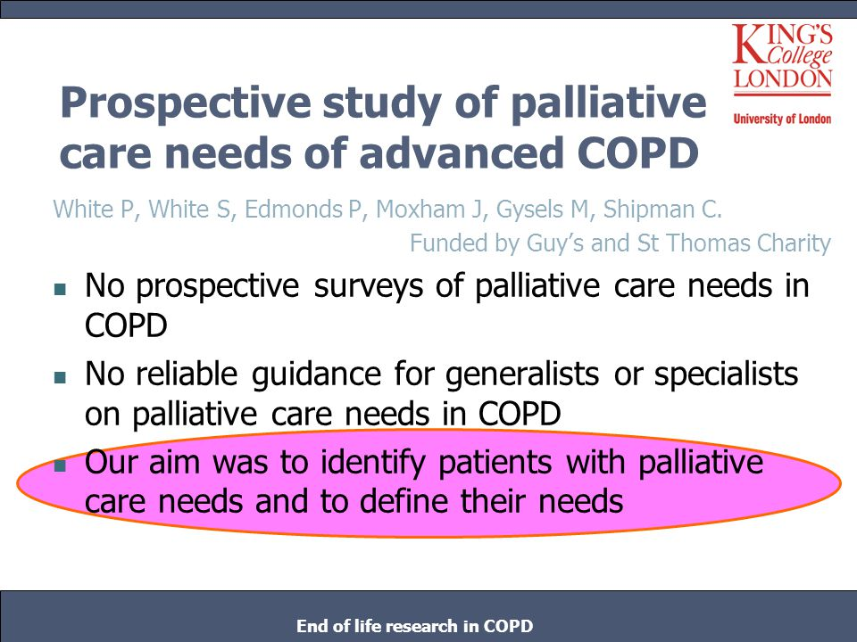 Copd palliative care case study