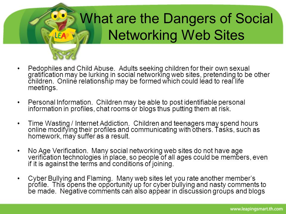 What are the Dangers of Social Networking Web Sites