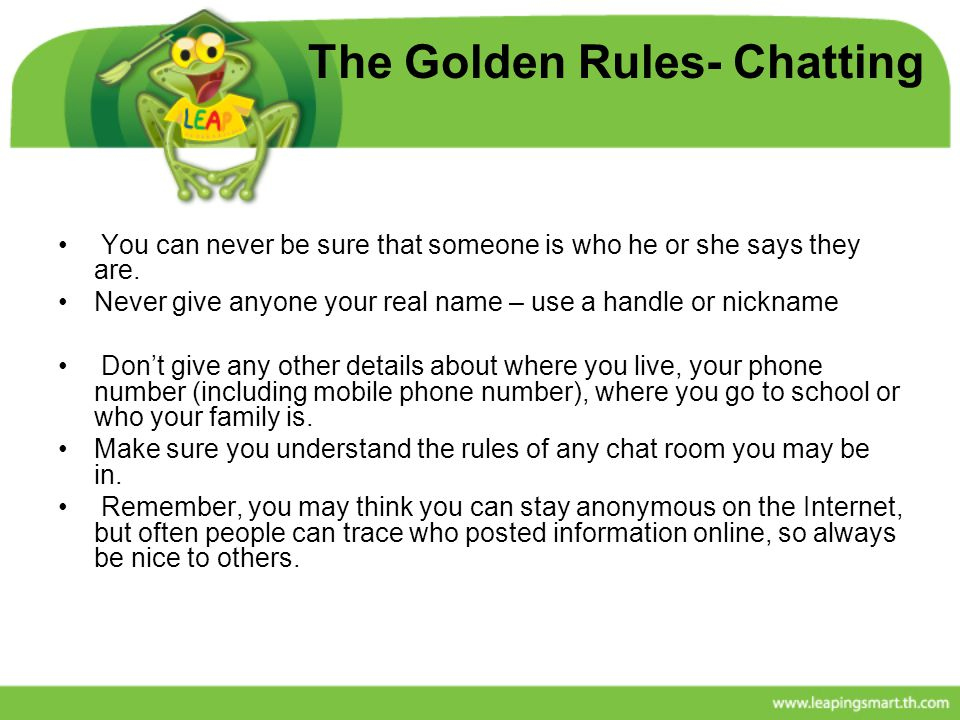 The Golden Rules- Chatting