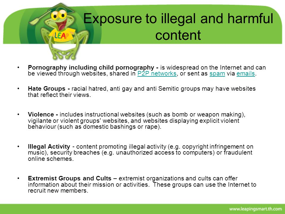 Exposure to illegal and harmful content