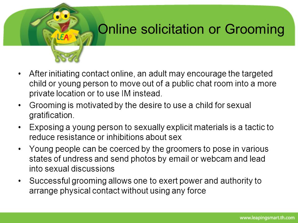 Online solicitation or Grooming