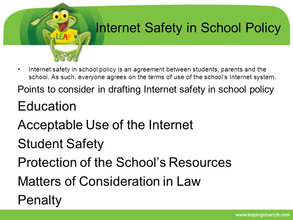 Internet Safety in School Policy