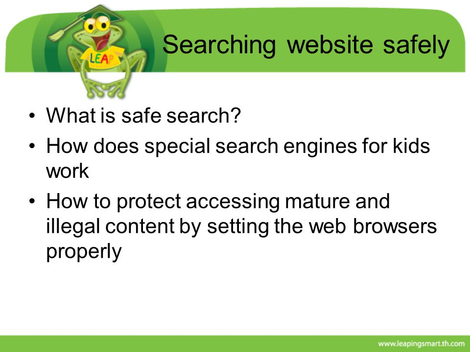 Searching website safely