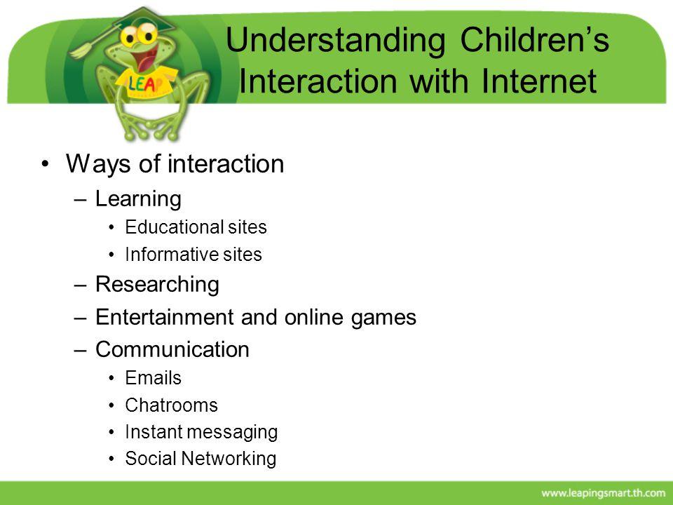 Understanding Children's Interaction with Internet
