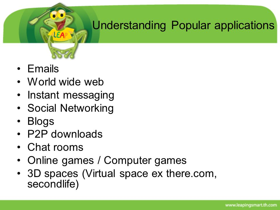 Understanding Popular applications