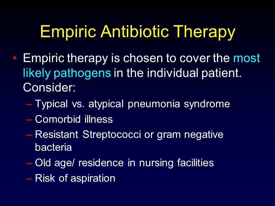Empiric Antibiotic Therapy