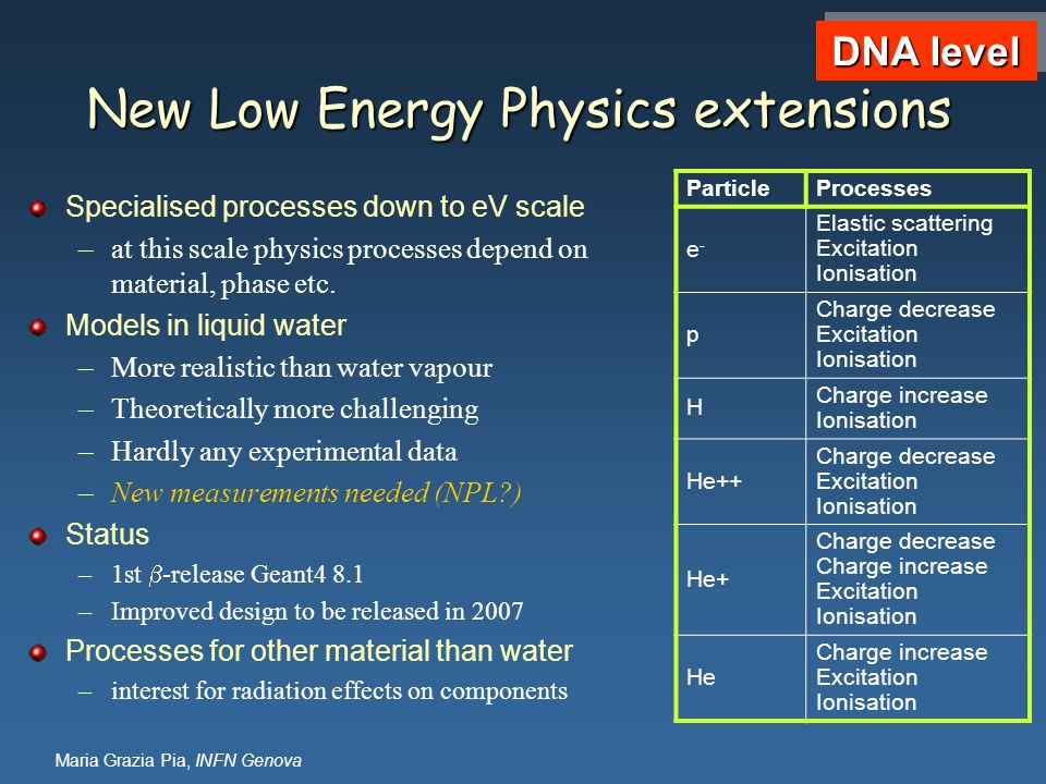 New Low Energy Physics extensions