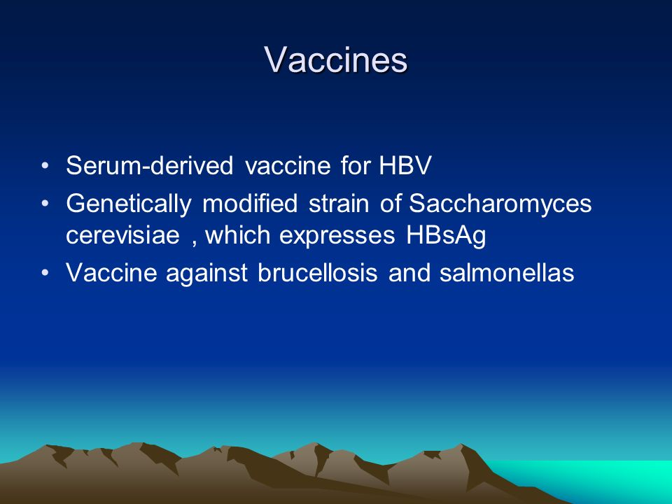 Vaccines Serum-derived vaccine for HBV