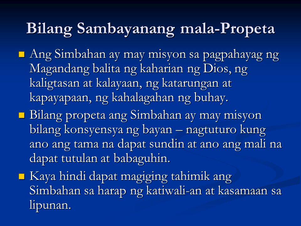 Bilang Sambayanang mala-Propeta