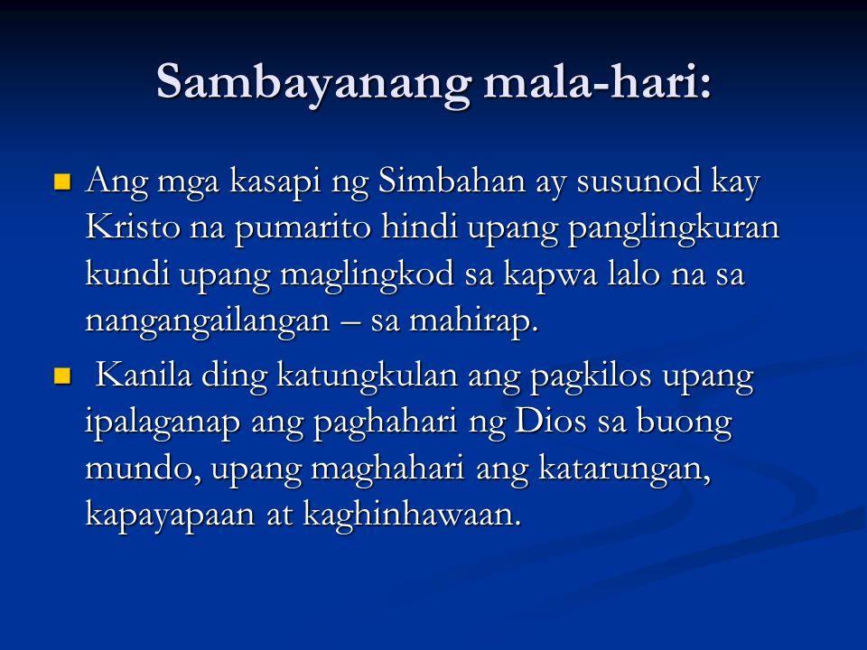 Sambayanang mala-hari: