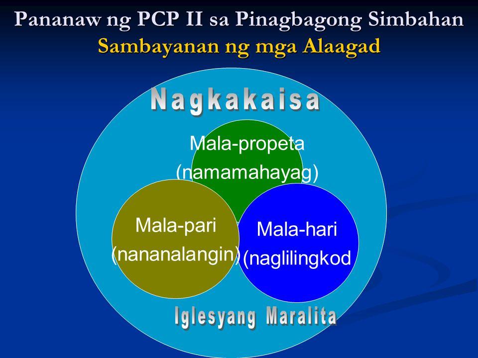 Pananaw ng PCP II sa Pinagbagong Simbahan Sambayanan ng mga Alaagad