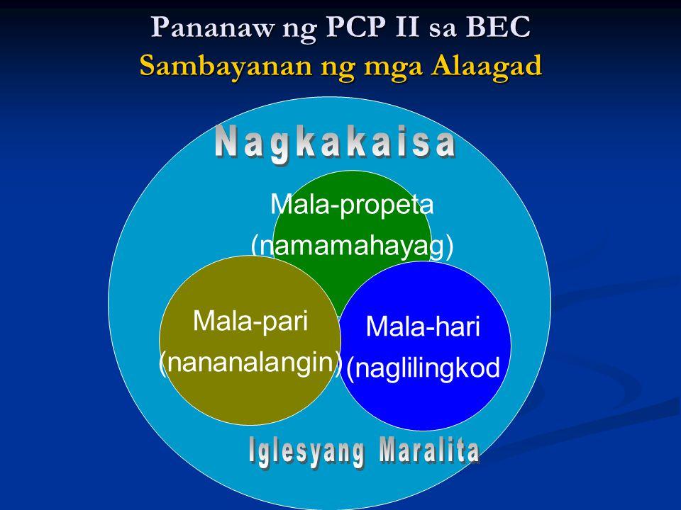 Pananaw ng PCP II sa BEC Sambayanan ng mga Alaagad