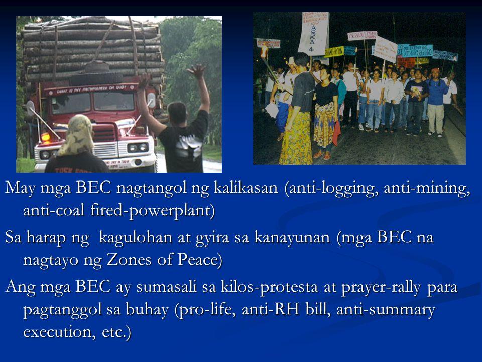 May mga BEC nagtangol ng kalikasan (anti-logging, anti-mining, anti-coal fired-powerplant)