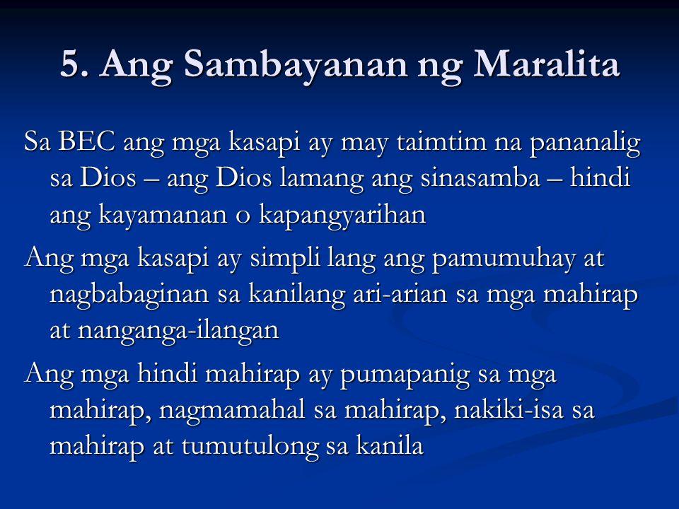 5. Ang Sambayanan ng Maralita