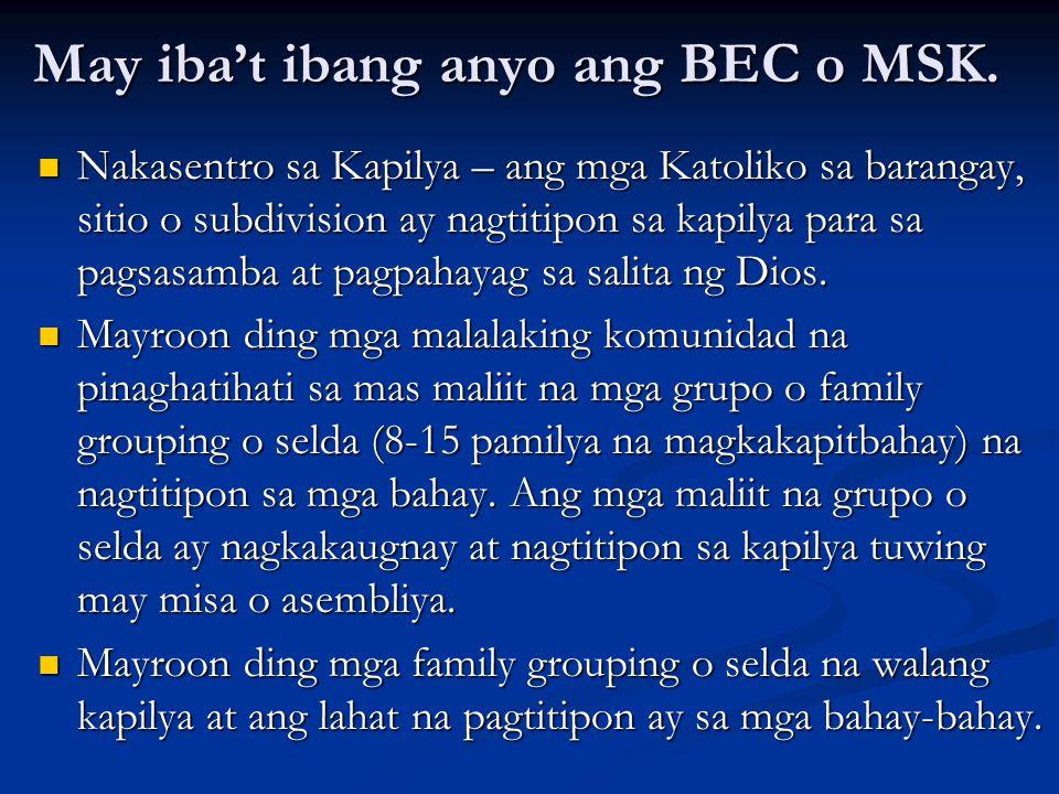 May iba't ibang anyo ang BEC o MSK.