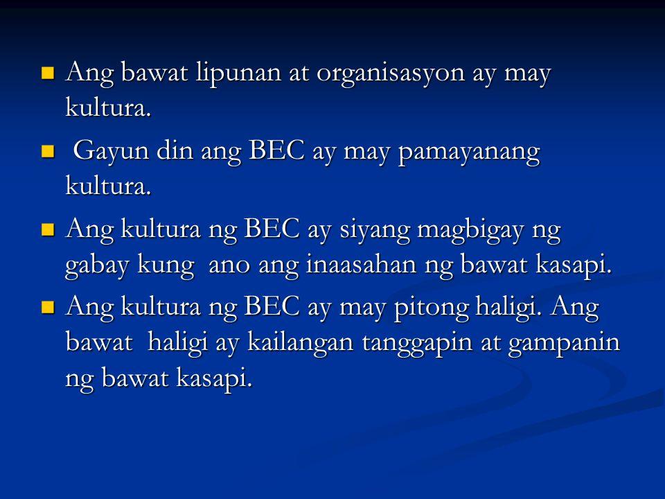 Ang bawat lipunan at organisasyon ay may kultura.